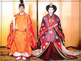 天皇,平安装束,画像