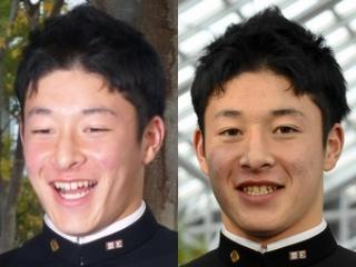 吉田輝星の天然パーマ髪型画像