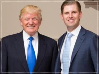 エリック・トランプとトランプ大統領の身長比較画像