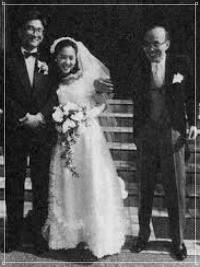 遠藤龍之介と嫁の結婚式とみられる画像