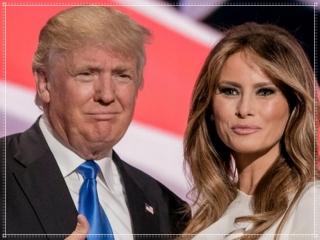 メラニア夫人とトランプ大統領の身長比較画像