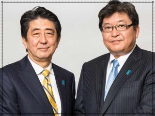 萩生田光一と安倍晋三の顔画像