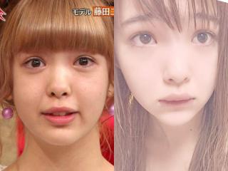 藤田ニコルのすっぴん画像,インスタ自撮りと他撮り比較