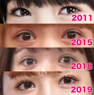 藤田ニコルの目の整形疑惑画像