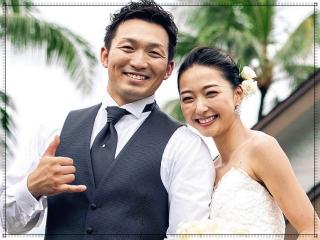 鈴木誠也と畠山愛理の結婚式画像