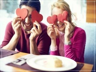 バレンタインカップルの画像