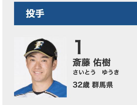斎藤佑樹の選手名鑑画像,引退疑惑
